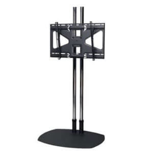 Premier Mounts Low-Profile Floor Stand With 84 In. Dual Poles And Tilting Mount For Flat-Panels Up To 160 Lb. TS84-MS2