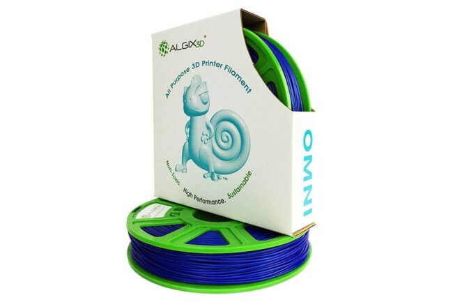 OMNI Blue 650x433 - ALGIX OMNI Non-Toxic Sustainable High Strength ABS-Like 3D Filament (375g)