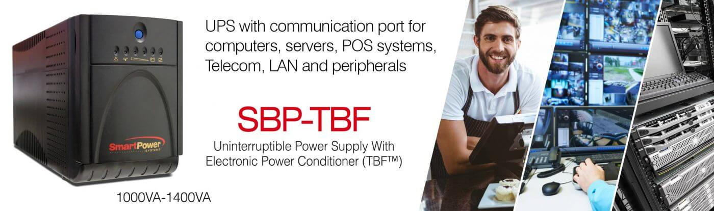 sbp tbf banner - Smart Power Systems SBP-TBF Series UPS with Electronic Power Conditioner