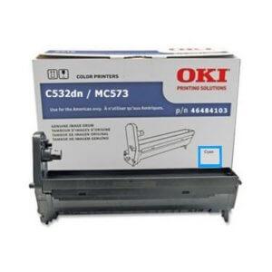 OKI 46484103 – 30K Cyan Image Drum For C532 / MC573