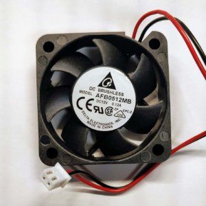 DELTA DC BRUSHLESS FAN AFB0512MB DC12V 0.12A, 2-WIRE, 50x15mm