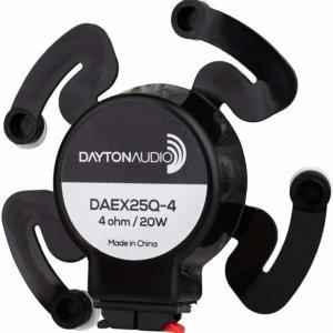 Dayton Audio DAEX25Q-4 Quad Feet 25mm Exciter 20W 4 Ohm  Roll Over Image To Zoom In Dayton Audio DAEX25Q-4 Quad Feet 25mm Exciter 20W 4 Ohm