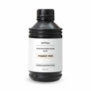 Zortrax Photopolymer Resin Basic – Pigment Free For Inkspire Printer-500ml        By ZORTRAX