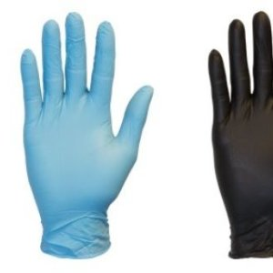 Nitrile Gloves – Blue Or Black -Sizes Medium And Large One Box Containing 100 Gloves